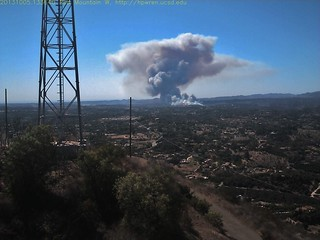 Red Mountain west view of Camp Pendleton wildfire