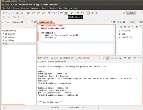 Ubuntu 12.04 Eclipse New C++ Project 9