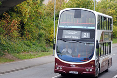 This bus was new to Lothian as 895 in 2008. Seen here at Wester Hailes  This is 895 seen here on a dull day at Wester Hailes on the 21 ...
