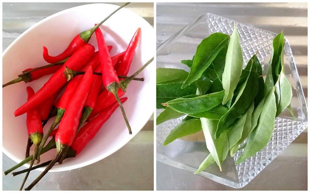 curry leaves & small chillies