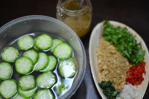 Mise en Place for garden egg salad