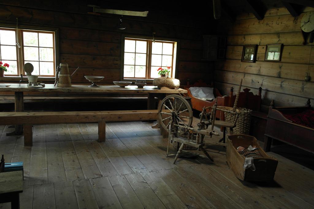 3. Interior de una casa típica, en Nordfjord. Autor, Kulturnett Sogn