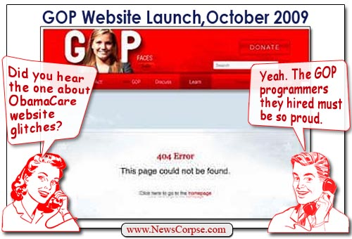 GOP Website Crash