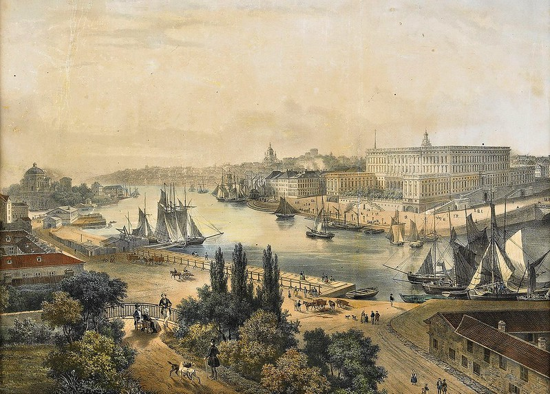 Johann Ludwig Bleuler - Vue de Stockholm (c.1835)