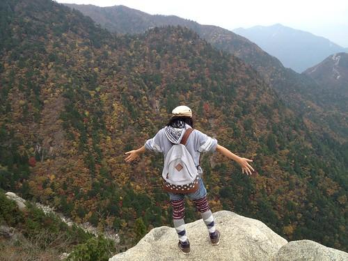 御在所岳 8合目の岩場
