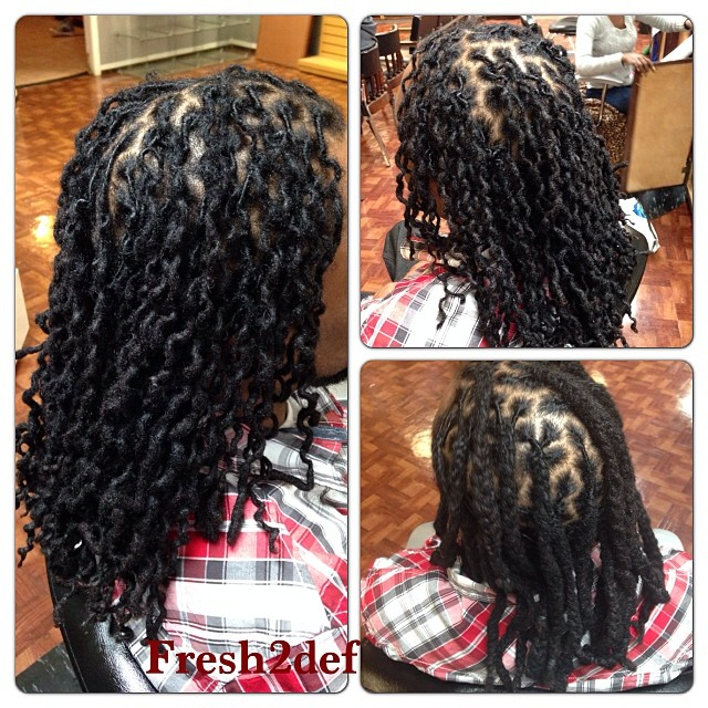 Before and after braided dreads!! #marvelouskutz #