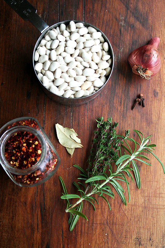dried beans and herbs
