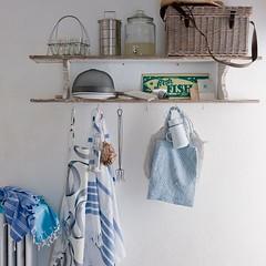 Open Shelves w/ Hooks