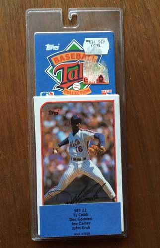 1989 TOpps Talking Baseball Pack 3