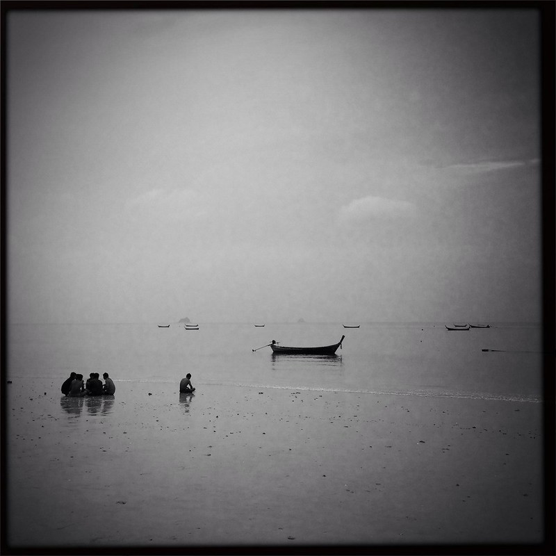 Fishermen at Khlong Muang beach