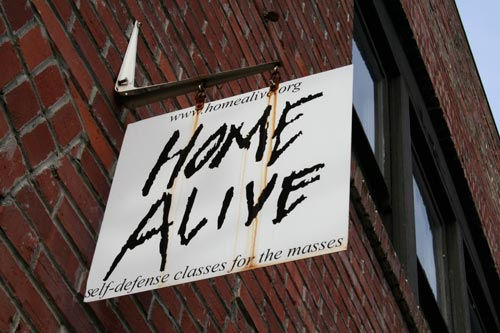 Sign for Home Alive's office