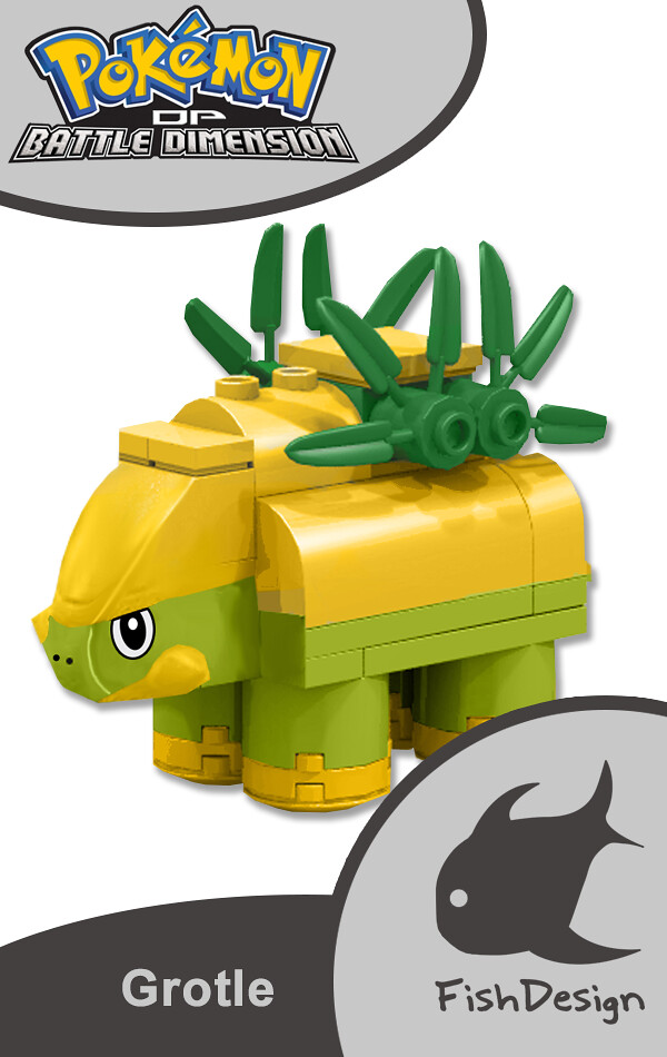 Grotle Brick Built Figure This Is Grotle Its A Pokémon Flickr