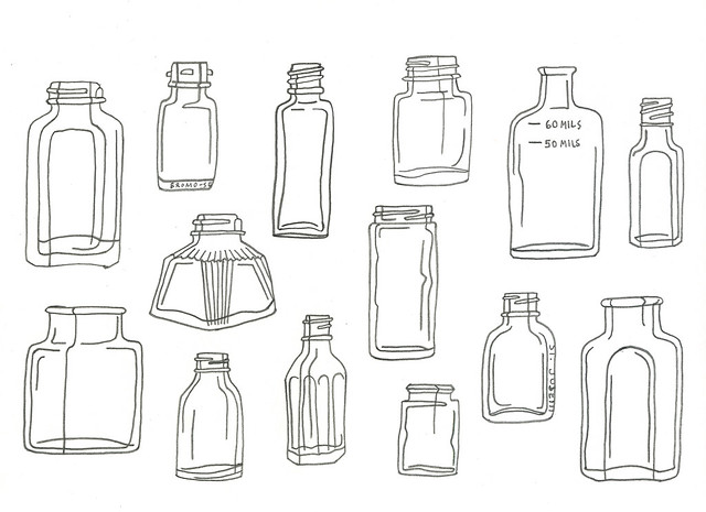 bottle drawing with more detail