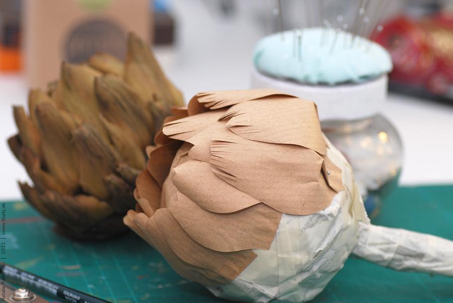 DIY: Kraft artichoke