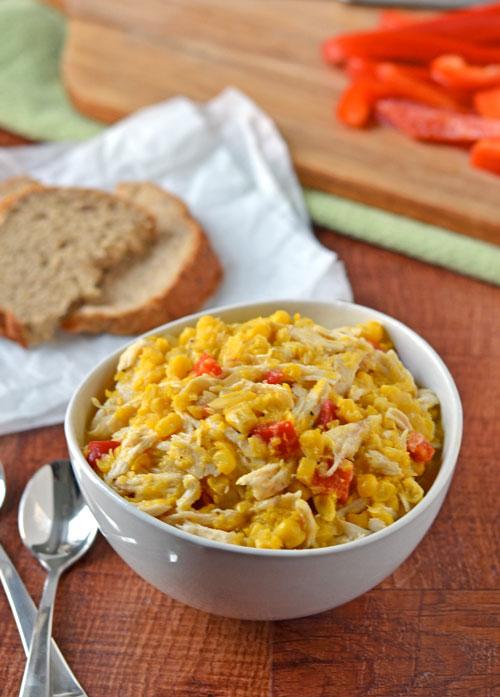 Healthy Corn Chicken Chowder. Ready in 20 minutes!