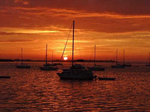 sailboat sunrise day florida cloudy bradentonbeach