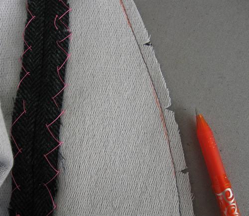 front stitching adjust