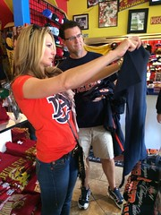 Fans in Pasadena shop for game day gear. for a list of licensed retailers, visit www.auburnloveitshowit.com.
