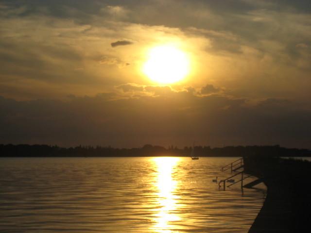 Sonnenuntergang über dem Strelasund