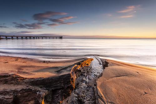 beach sunrise landscape dawn sand day sunday maryland filter pasadena chesapeakebay waterscape downspark dawnpatrol neutraldensity singhray leefilters 06gnd darylbensonrgnd pwpartlycloudy