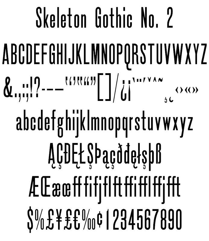 Skeleton Gothic No. 2
