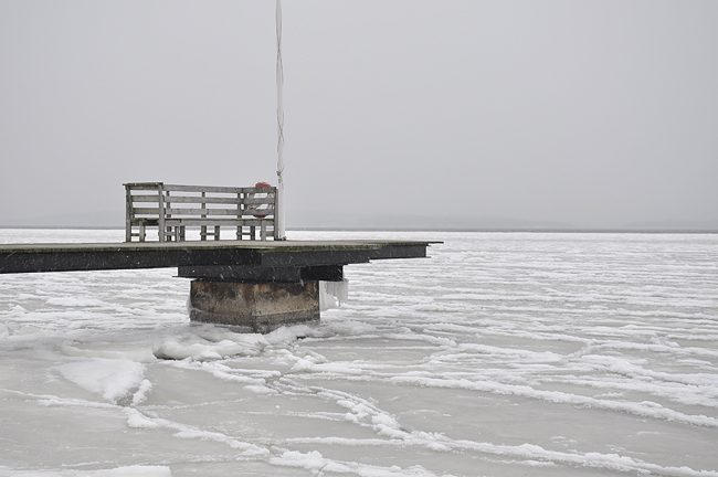 snöigt och blåsigt