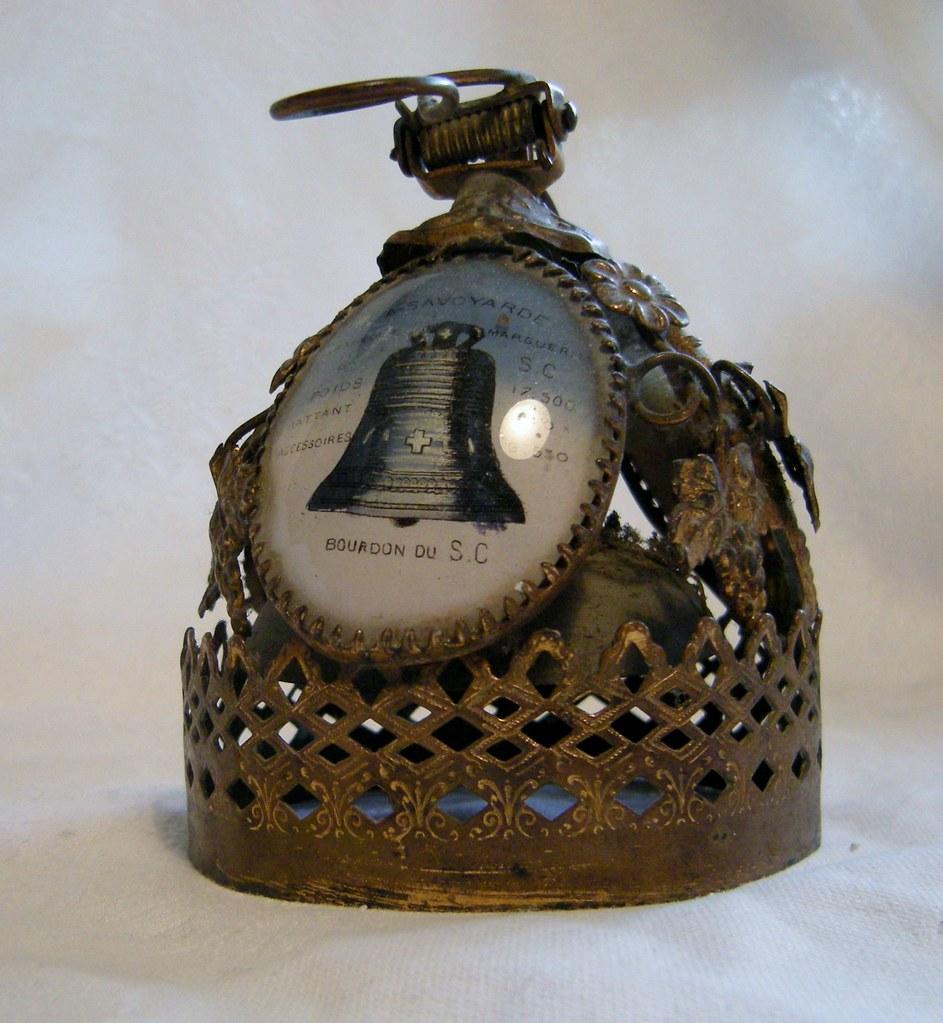 ancienne sonnette de comptoir cloche de table fonderie xixeme reliquaire bell ebay. Black Bedroom Furniture Sets. Home Design Ideas