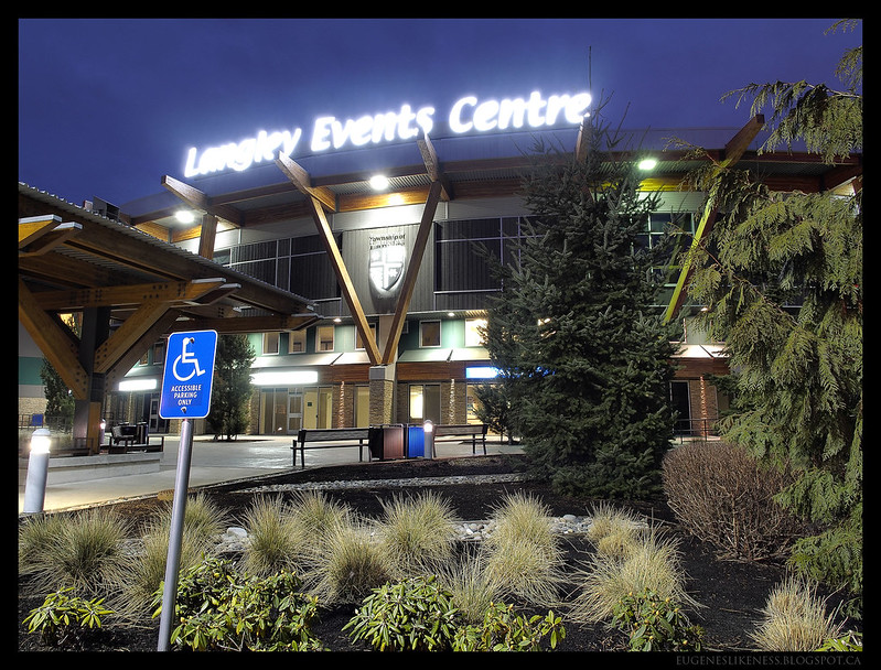 Langley Events Centre Entrance Foliage