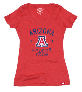 University of Arizona Womens Red T Shirt