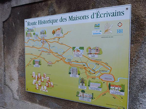 route historique des maisons d'écrivains