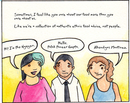 a comic about race, ethnicity, and food