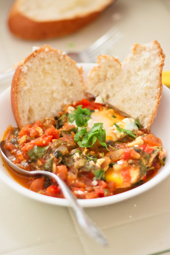{shakshuka with spinach} via chevrons & éclairs