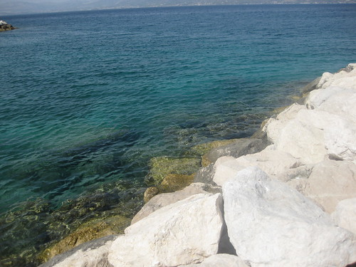 The rocky beaches in Croatia