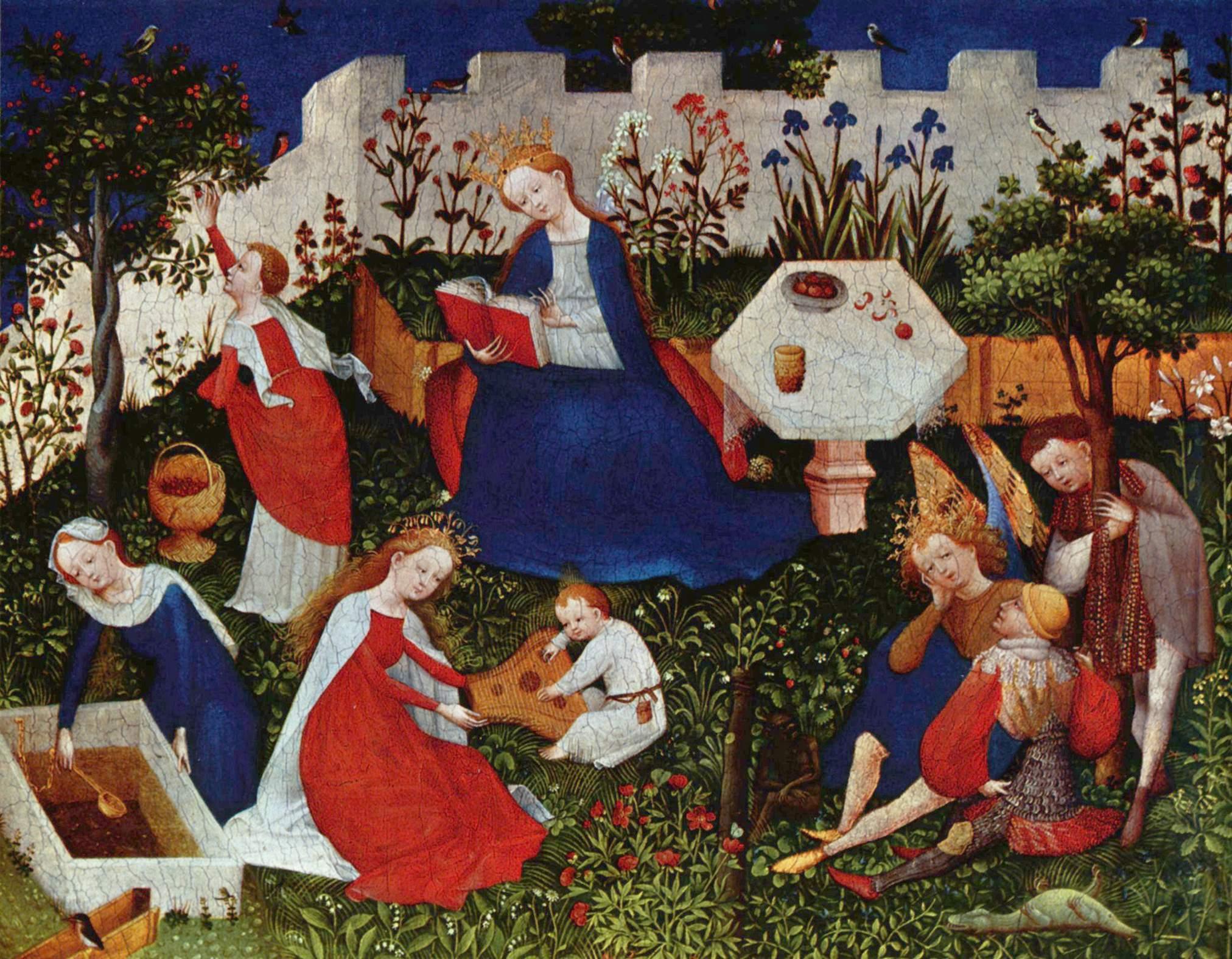 3. Escena medieval de época gótica. Autor, Desconocido