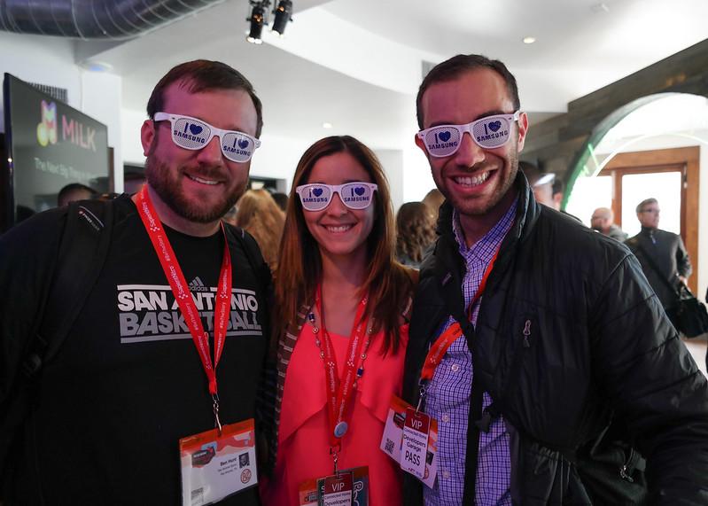 Ben, Deya and Nan at the SXSW Samsung Galaxy Experience