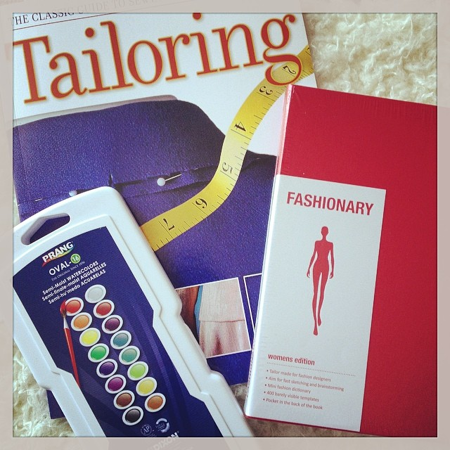 Good mail day! New book on tailoring, a Fashionary, and a set of watercolors