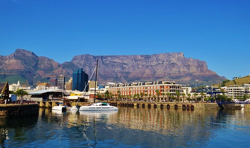 Table Mountain is all but dwarfed ....