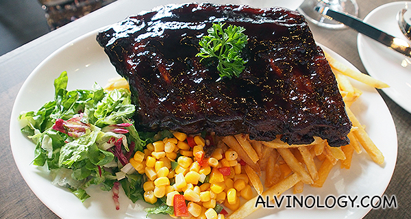 BBQ Baby Back Ribs (S$22 for half/ S$28 for full)