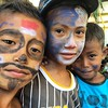 Boys w painted faces at #TamanBacaanPelangi, Rinca Island #flores
