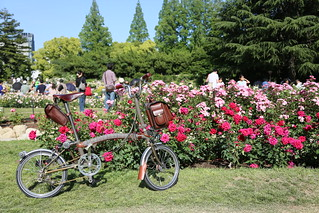 Tweed Brompton and rose | by Brompton Bicycle
