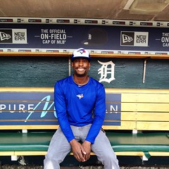 July 5, 2015 - 13:13 - In the dugout at Comerica Park in Detroit. #Detroit #tigers #baseball #mlb #dugout #tour #ballpark #beisbol