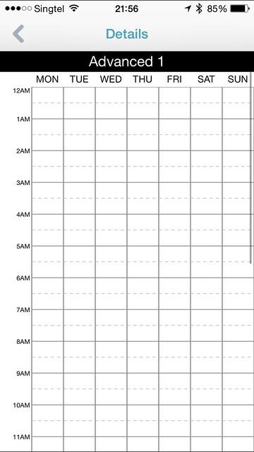 mydlink Home iOS App - Advanced Schedule