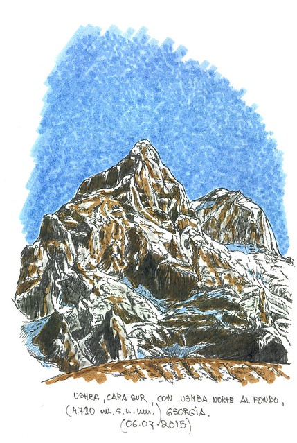 Ushba (cara norte) (4.710 m.s.n.m.) Georgia