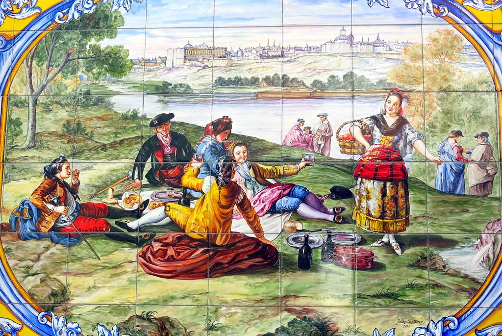 La pradera de san Isidro (allá por el siglo XIX)