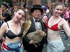 Dr. Takeshi Yamada and Seara (sea rabbit) visited the Gay Pride Parade in Manhattan, New York on June 28, 2015. The US President Barack Obama supports same-sex marriage. gay marriage. 100_8394=0005eyesC by searabbits23