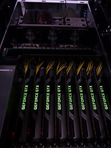 8 GPU Nvidia Titan System Glow