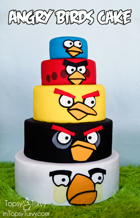 Groovy Angry Birds Birthday Cake Imtopsyturvy Com Angry Birds Flickr Funny Birthday Cards Online Overcheapnameinfo