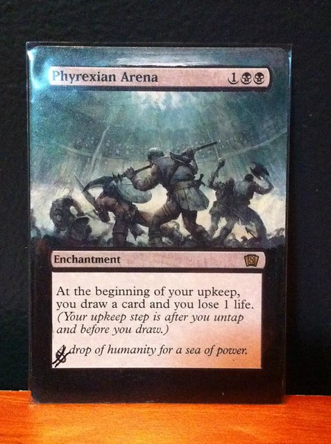 Phyrexian Arena Magic Card Altered Art by Jacob Honor