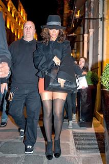Rihanna Sheer Dress Celebrity Style Women's Fashion