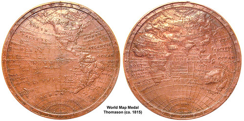 World Map Medal